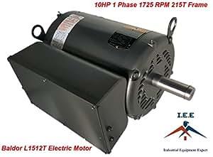 10 hp single phase baldor electric compressor motor 1725. Black Bedroom Furniture Sets. Home Design Ideas