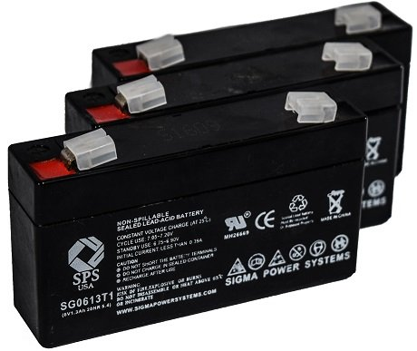 (SPS Brand 6V 1.3Ah Replacement Battery for Quantum Bantam (3 Pack))