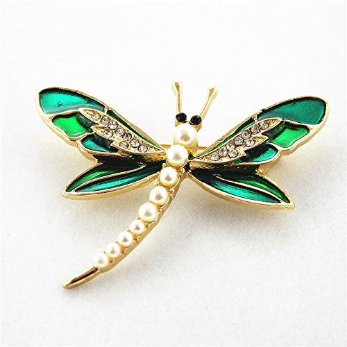 - Fashionable Enamel Exquisite Dragonfly Synthetic Pearl Jewelry Sets | Men, Women's Brooch Sets Accessories