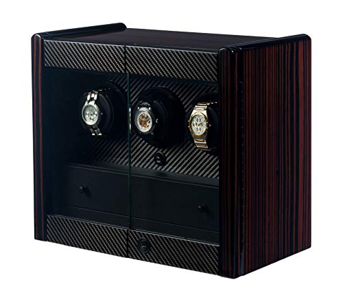 - Orbita - Avanti 3 Macassar/Carbon Fiber | Rotorwind Watch Winder