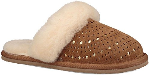UGG Boys Finn Sunshine Perf Slipper, Chestnut, Size 13 M US Little Kid ()
