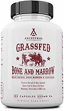 Ancestral Supplements Grass Fed Bone and Marrow — Whole Bone Extract (Bone, Marrow, Cartilage, Collagen). See Other Ingredients.