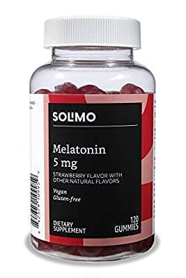 Amazon Brand - Solimo Melatonin 5mg, 120 Gummies, 60-Day Supply
