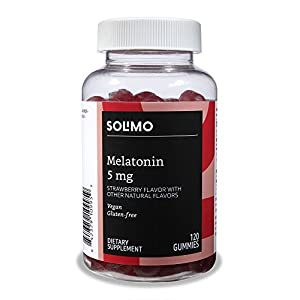 Amazon Brand – Solimo Melatonin 5mg, 120 Gummies (2 Gummies per Serving)