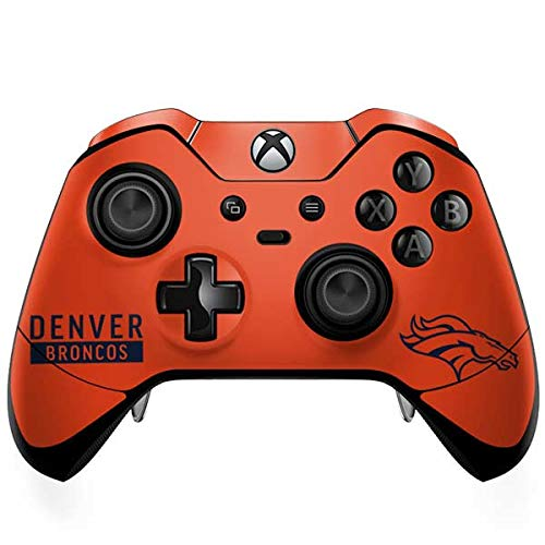 Skinit Denver Broncos Orange Performance Series Xbox One Elite Controller Skin - Officially Licensed NFL Gaming Decal - Ultra Thin, Lightweight Vinyl Decal Protection