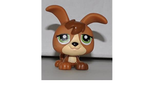 Retired OOP Out of Package /& Print - Littlest Pet Shop Collector Toy Petriplet #1338 Loose LPS Collectible Replacement Single Figure Brown, Green Eyes
