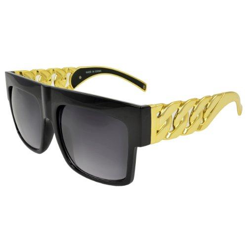 MLC Eyewear® Chunky Crystal Square Fashion Retro Sunglasses - Jacobs Sunglasses Michael