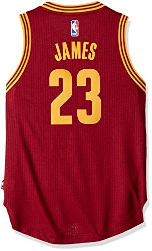 Outerstuff NBA Cleveland Cavaliers Lebron James Boys Player Swingman Road Jersey, Medium (10-12), Burgundy