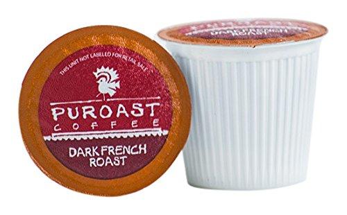 Puroast Low Acid Coffee French Roast, 72 Count