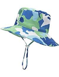 795062a51de Baby Sun Hat Bucket - Outdoor Beach Summer Hats for Toddler Boys Girls UPF  50+