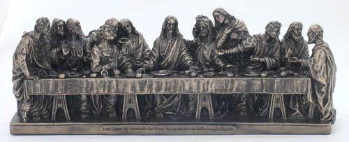 - Woodington's Traditional Bronze Last Supper Statue