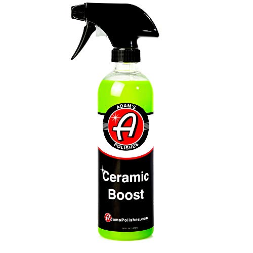 - Adam's Ceramic Boost 2.0 16oz - Ceramic Infused Quick Detailer Spray Sealant - Silica Protection Creates a Slick Surface That Beads and Repels Water - Use On Exterior Surfaces Paint, Chrome, and Trim