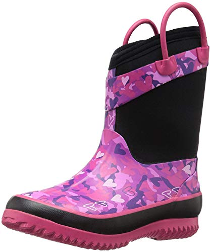 Western Chief Kids Cold Rated Neoprene Boot, Heart Camo, 9/1