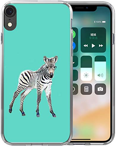 (XR Case Zebra/IWONE Designer Rubber Durable Protective Skin Transparent Cover Shockproof Compatible with iPhone XR[10R] 2018 6.1 Inches Kawaii Zebra Animal Pattern)
