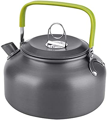 Portable Aluminum Camping Water Kettle Outdoor Coffee Teapot for Hiking 800ML