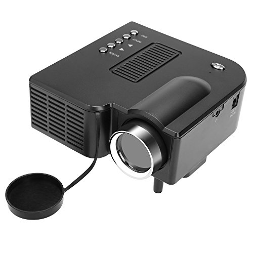 Tiowea New Black Mini Portable Home Office Cinema AV VGA USB LED Entertainment Projector US Plug Video Projectors from tiowea