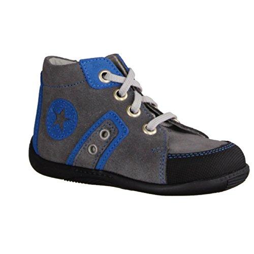 Däumling 150161M-82 - Zapatos infantiles Zapatillas de correr Talla 18 - 26, Gris, cuero