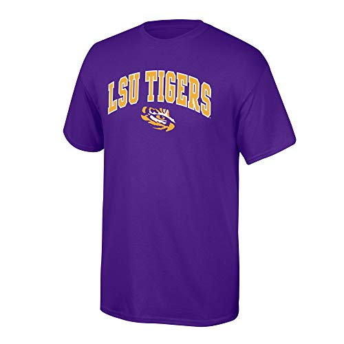 Elite Fan Shop NCAA Men's LSU Tigers T Shirt Team Color Arch Lsu Tigers Purple Large
