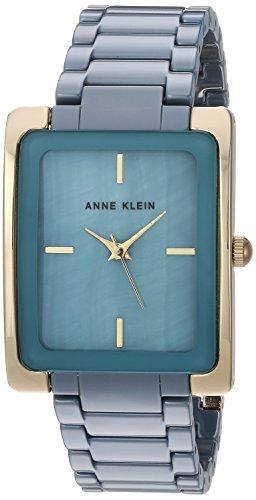 Anne Klein Women's AK/2952BLGB Gold-Tone and Slate Blue Ceramic Bracelet Watch (Anne Klein Watch Extender Link)