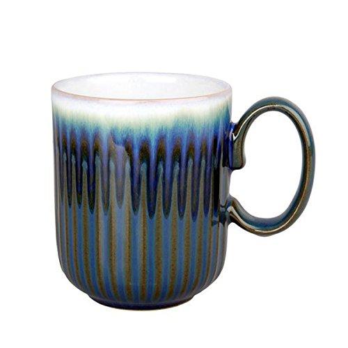 Denby FMG-116GR Greenwich Fluted Mug, Multicolor, - Coffee White Denby