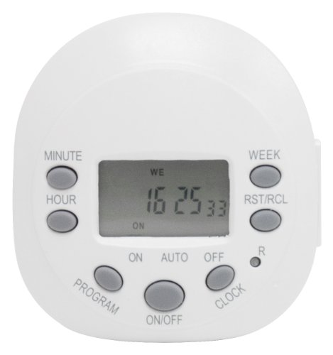GE 15154 Indoor 7-Day Digital Plug-In Timer, 600 Watts