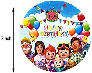 Birthday Party Supplies. 20 pcs cocomelon Invitation Cards cocomelon Themed Party Supplies