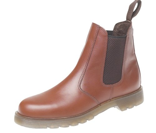 Grafters Mens Leather Dealer Boots With Aircushion Sole Tan JsWmqG