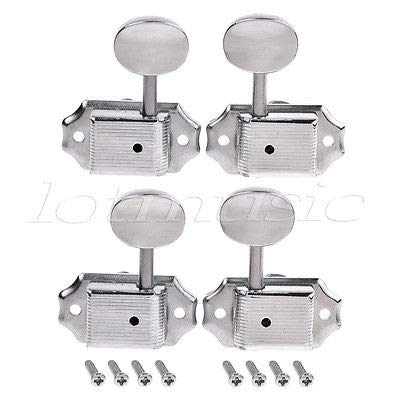 FidgetGear Ukulele Tuning Pegs Machine Heads Tuners Keys for Uke Guitar Parts Chrome 2R2L does not apply