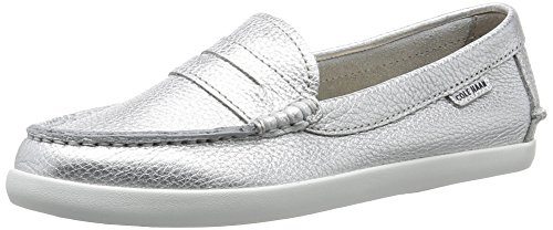 Pinch Haan Loafer Leather Metallic Argento Cole Weekender Penny BTBqw