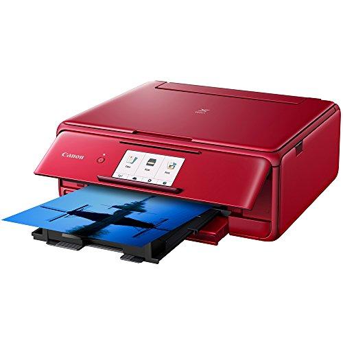 Canon PIXMA TS8120 Wireless Printer w/Scanner & Copier Red + Warranty Bundle by Canon (Image #4)