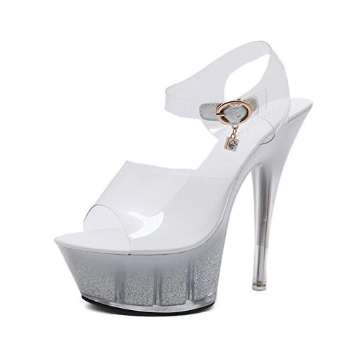 Stiletto PVC Heel Party Crystal Heel amp; C Translucent Heel Summer Heels Shoes Light Spring Evening Heel up Women's for Shoes Shoes Wedding Club Crystal SqwRPxPv5