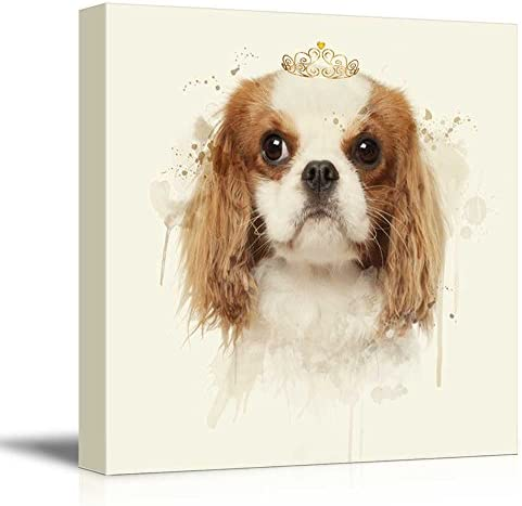 Square Dog Series Cute Dog with a Crown