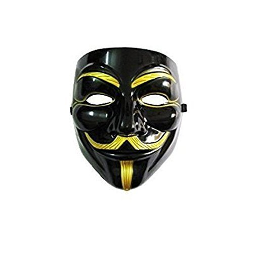 (Imonic V for Vendetta Mask / Anonymous / Guy Fawkes Mask Black &)