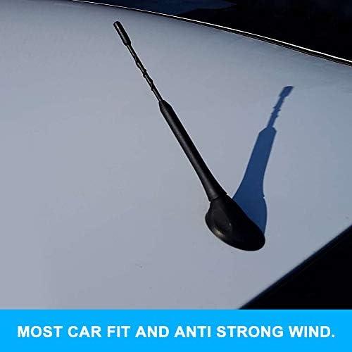Autoantenne Kurz Universal Nochme 9 Zoll Radio Antenne Ersatz Autoradio Car Aerial Dachantenne With 5mm 6mm Adapter Mini Car Zubehör Fm Am Zugänge M5 M6 Schwarz Auto