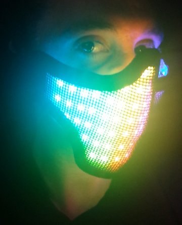 [R4VE LED Half Face Mask] (Dance Costumes Seattle)