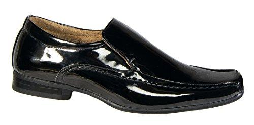 Zapatos Cuero de hombre Slip On Goor Formal para negro boda forrado ZgrHSIZ