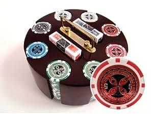 200 14 G Ultimate Poker Chips & Wooden Carousel Set