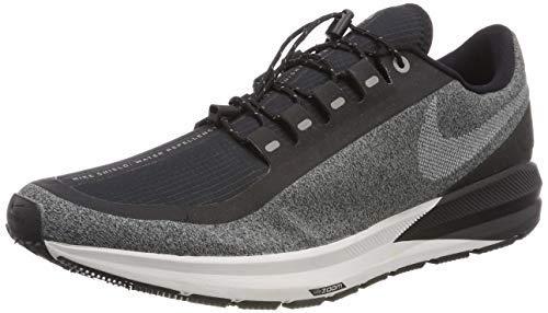 Nike Womens Air Zoom Strcuture 22 RN Shield Running Trainers AA1646 Sneakers Shoes (UK 5.5 US 8 EU 39, Black White Cool Grey 001)