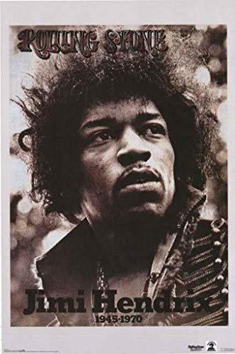 Pyramid America Jimi Hendrix Rolling Stone Cover Music Poster 22x34 inch