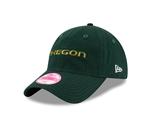 New Era NCAA Oregon Ducks Team Glisten LS 9TWENTY Adjustable Cap, Green, One Size