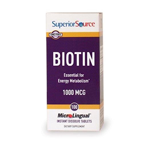 Superior Source Biotin, 1,000 mcg, 100 Count