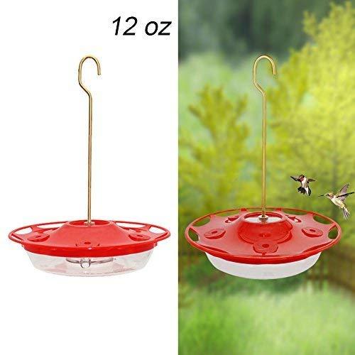 Juegoal 12 oz Hanging Hummingbird Feeder (Best Way To Clean Hummingbird Feeder)