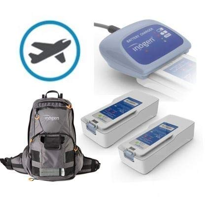 Inogen One G4 Freedom Package for Travel | Two Double Batteries, External Charger, Backpack, and Airline Priority Tag Identifier | Oxygen Accessories for Portable Oxygen Concentrator