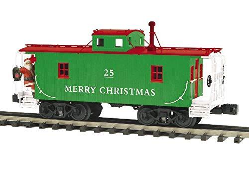 MTH Electric Trains O Christmas N-6b Caboose w/Operating Signal Man