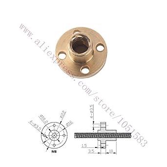 BHPSU 2Pcs/Lot 3d Impresora Piezas M8 Tuerca de Cobre para ...