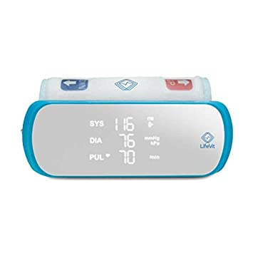 LifeVit BPM-200 Wireless-Tensiómetro de Brazo Inteligente-Conexión Bluetooth BLE 4.0 con Móviles y Tablets para controlar los Resultados a través de Nuestra ...