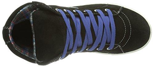 Ricosta Jarno - zapatillas deportivas altas de piel niño negro - Schwarz (schwarz 091)