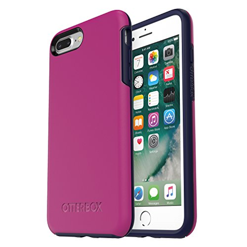 (OtterBox SYMMETRY SERIES Case for  iPhone 8 Plus & iPhone 7 Plus (ONLY) - Retail Packaging - MIX BERRY JAM (BATON ROUGE/MARITIME BLUE))