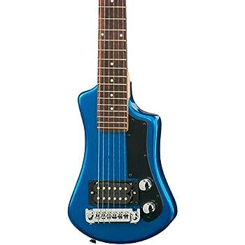 Hofner 6 String Shorty Electric Travel Guitar-Blue w/Gig Bag, Right Handed (HCT-SH-BL-O