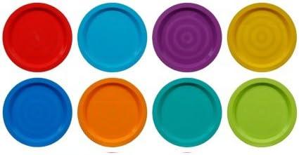 Fingey - Juego de 8 platos y vasos de plástico para jardín y ...